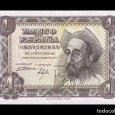 Billetes españoles: ESPAÑA 1 PESETA DON QUIJOTE DE LA MANCHA 1951 PICK 139 SERIE Q SC UNC. Lote 195255090