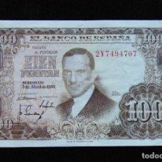Billetes españoles: ESPAÑA BILLETE DE 100 PESETAS 1953 -MUY BONITO-. Lote 195302195