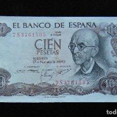 Billetes españoles: ESPAÑA BILLETE DE 100 PESETAS 1970 EBC. Lote 195302392