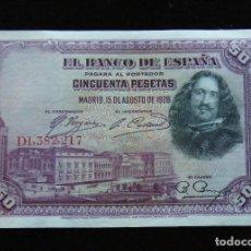 Billetes españoles: ESPAÑA BILLETE DE 50 PESETAS 1928 -BONITO-. Lote 195303100