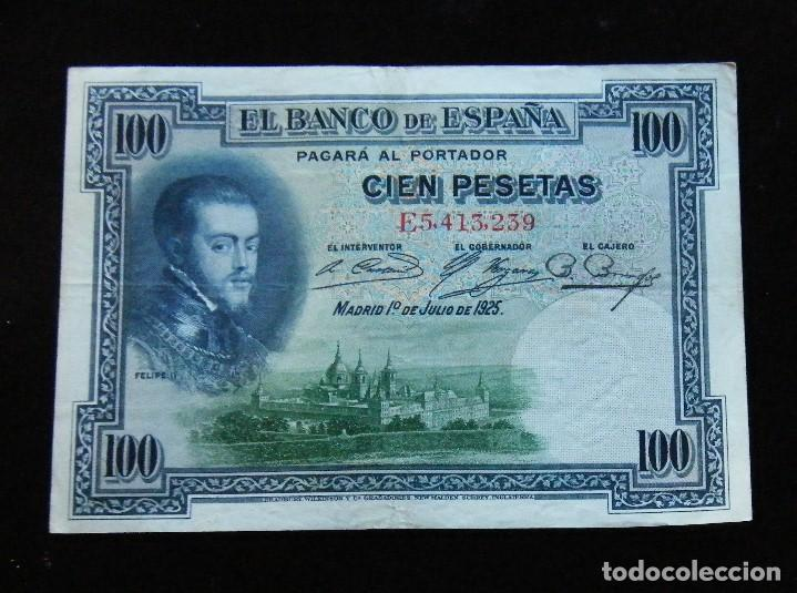 ESPAÑA BILLETE DE 100 PESETAS 1925 -BONITO- (Numismática - Notafilia - Billetes Españoles)