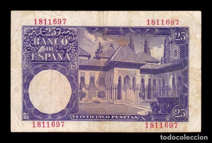 Billetes españoles: España Spain 25 Pesetas Isaac Albeniz 1954 Pick 147 Sin Serie BC+ F+ - Foto 2 - 195303550