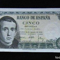 Billetes españoles: ESPAÑA BILLETE DE 5 PESETAS 1951 SIN CIRCULAR . Lote 195304317