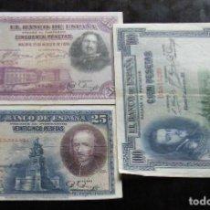 Billetes españoles: ESPAÑA LOTE DE 3 BILLETES DE 1-1-5 PESETAS. Lote 195306228