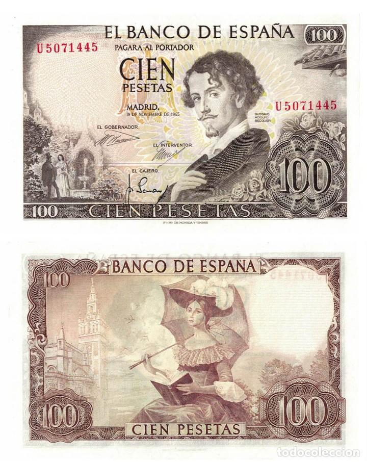 100 PESETAS 1965 SIN CIRCULAR PLANCHA (Numismática - Notafilia - Billetes Españoles)