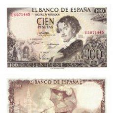 Billetes españoles: 100 PESETAS 1965 SIN CIRCULAR PLANCHA. Lote 195306397