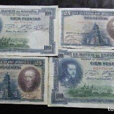Billetes españoles: ESPAÑA LOTE DE 4 BILLETES DE 25 Y 50 PESETAS 1925-1928. Lote 195306481