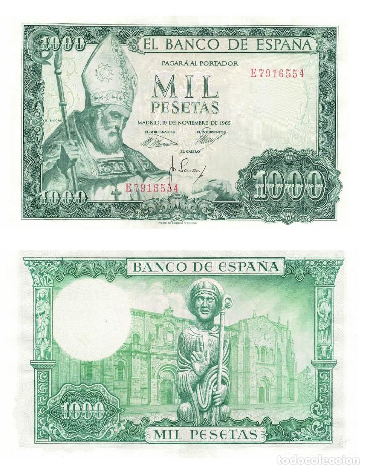 1000 PESETAS 1965 SIN CIRCULAR PLANCHA (Numismática - Notafilia - Billetes Españoles)