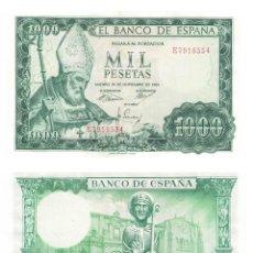 Billetes españoles: 1000 PESETAS 1965 SIN CIRCULAR PLANCHA. Lote 195306955