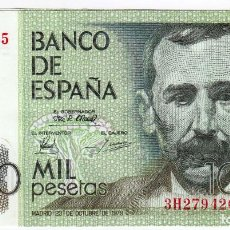 Billetes españoles: ESPAÑA 1000 PESETAS 1979 CON SERIE BENITO PEREZ GALDOS CALIDAD S/C. Lote 195308895