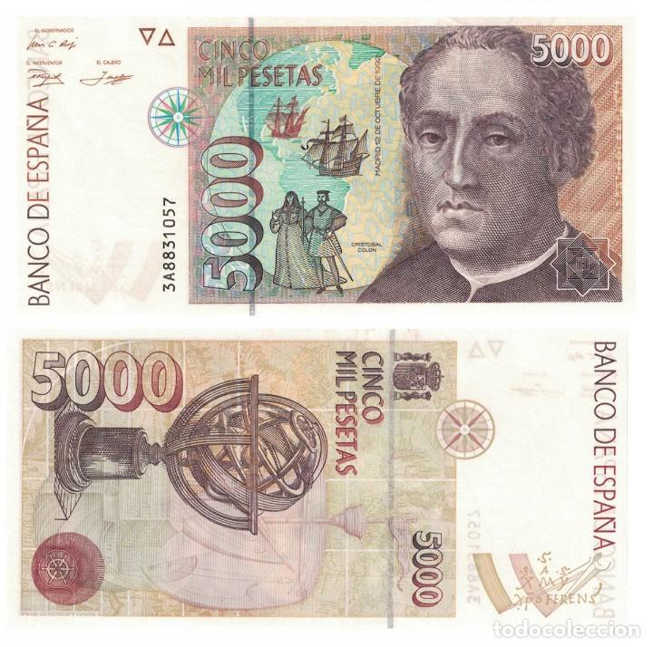 5000 PESETAS 1992 SIN CIRCULAR PLANCHA SERIE 3A (Numismática - Notafilia - Billetes Españoles)