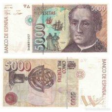 Billetes españoles: 5000 PESETAS 1992 SIN CIRCULAR PLANCHA SERIE 3A. Lote 195317513