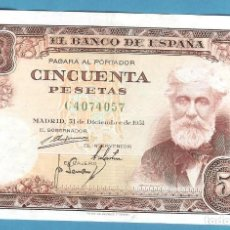 Billetes españoles: ESPAÑA. BILLETE DE 50 PESETAS 1951. SERIE C. RUSIÑOL. Lote 195370158