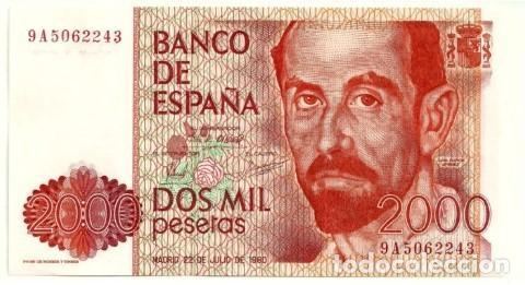 2000 PESETAS 1980 SERIE ESPECIAL 9A, SIN CIRCULAR/PLANCHA (Numismática - Notafilia - Billetes Españoles)