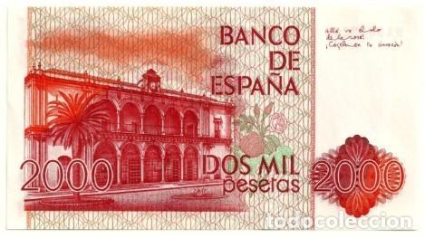 Billetes españoles: 2000 pesetas 1980 serie especial 9A, sin circular/plancha - Foto 2 - 195437012