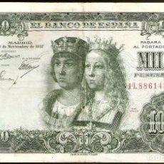 Billetes españoles: ESTADO ESPAÑOL, 1000 PESETAS DE 1957 ´- USADA.. Lote 195439827