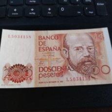 Billetes españoles: BILLETE 200 PESETAS 16 SEPTIEMBRE 1980 LEOPOLDO SC SERIE L. Lote 195447791