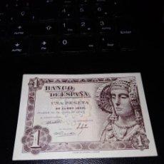 Billetes españoles: BILLETE DE 1 PESETA EMISIÓN 19 JUNIO 1948 SERIE M SIN CIRCULAR. Lote 195447797