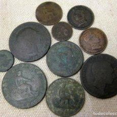 Billetes españoles: LOTE DE 10 MONEDAS, COBRES DIFERENTES.. Lote 195448731