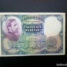 Billetes españoles: BILLETE DE 50 PTAS DE 1931 .. .. .. ..ES EL DE LAS FOTOS. Lote 195516936