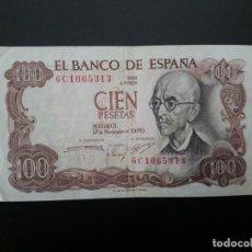 Billetes españoles: BILLETE DE 100 PTAS DE 1970.. PRECIOSO .. .. .. ..ES EL DE LAS FOTOS. Lote 195517105