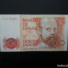 Billetes españoles: BILLETE DE 200 PTAS DE 1980. SERIE L SIN CIRCULAR .. .. .. ..ES EL DE LAS FOTOS. Lote 195517146