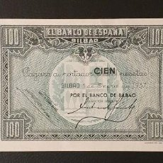 Billetes españoles: BILLETE 100 PESETAS 1937 BILBAO CON MATRIX ENTERA . Lote 195526171