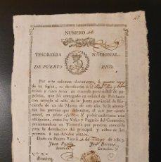 Billetes españoles: BILLETE 25 PESOS FUERTES 1813 NUMERO BAJO 46. Lote 195526218