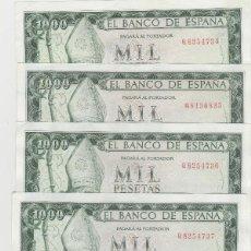 Billetes españoles: 1000 PESETAS- 19 DE NOVIEMBRE DE 1965- 5 BILLETES CORRELATIVOS -SIN CIRCULAR. Lote 195783583