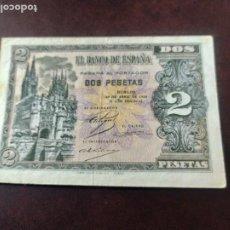 Billetes españoles: BILLETE DE 2 PTAS. DE 1938 DE BURGOS. Lote 196272058