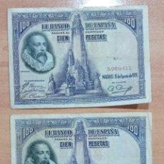 Billetes españoles: LOTE DE 3 BILLETES 100 PESETAS 1928. Lote 196293696