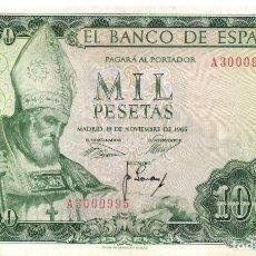 Billetes españoles: BILLETE DE 1000 PTAS. EMISION 19-11-1965 IMAGEN SAN ISIDORO. Lote 196927955
