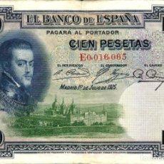 Billets espagnols: ESPAÑA.100 PESETAS. 1925.. Lote 197295415