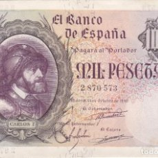 Billetes españoles: BILLETE DE 1000 PESETAS DEL AÑO 1940 DE CARLOS I EN BUENA CALIDAD (RARO Y DIFICIL). Lote 197352485