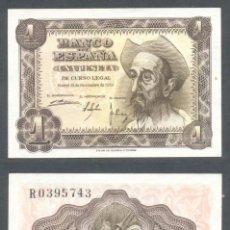 Billets espagnols: 1 PESETA DE 1951 SERIE R SIN CIRCULAR PLANCHA PERFECTA. Lote 197645021