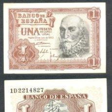 Billets espagnols: 1 PESETA DE 1953 SERIE 1D SIN CIRCULAR-. Lote 197647237
