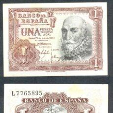 Billets espagnols: 1 PESETA DE 1953 SERIE L SIN CIRCULAR-. Lote 197647357