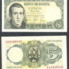 Billets espagnols: 5 PESETAS DE 1951 SERIE 1A SIN CIRCULAR-. Lote 197647685