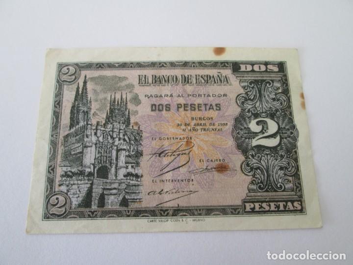 BILLETE * 2 PESETAS 30 DE ABRIL DE 1938 * SERIE M (Numismática - Notafilia - Billetes Españoles)