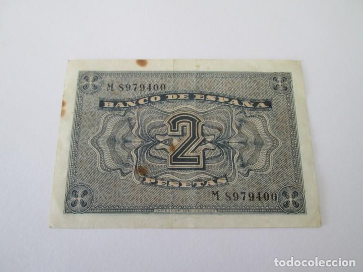 Billetes españoles: BILLETE * 2 PESETAS 30 DE ABRIL DE 1938 * SERIE M - Foto 2 - 197744202