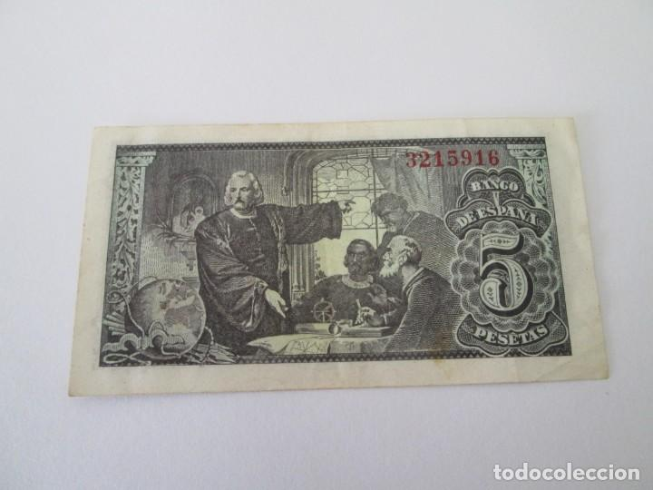 Billetes españoles: BILLETE * 5 PESETAS 13 DE FEBRERO DE 1943 * SIN SERIE - Foto 2 - 197783342