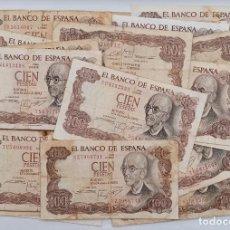 Billetes españoles: GRAN LOTE DE 55 BILLETES DE 100 PESETAS. NOVIEMBRE 1970. MANUEL DE FALLA. Lote 198209843