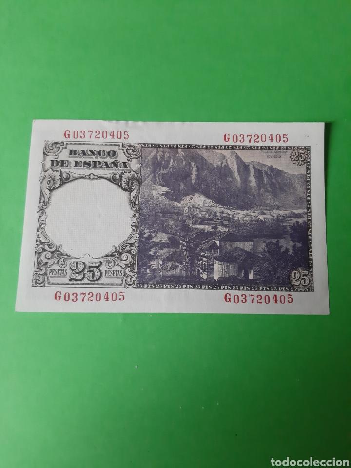 Billetes españoles: 1946 Madrid 19 Febrero Banco España 25 pesetas serie G 03720495 ebc - Foto 2 - 198282652