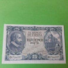 Billetes españoles: BONITO BILLETE 9ENERO 1940 25 PESETAS SERIE D 87794637. Lote 198291170