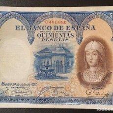 Billetes españoles: BILLETE 500 PESETAS 1927 NUMERCION BAJA ISABEL LA CATOLICA. Lote 198293952