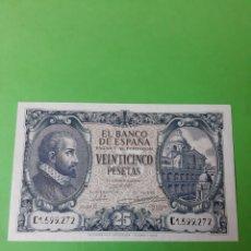 Billetes españoles: PLANCA SERIE C 1599272 BANCO ESPAÑA 9 ENERO 1940 25 PESETAS. Lote 198297523