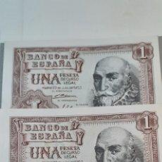 Billetes españoles: TRIO CORRELATIVO 3 BILLETES DE 1 PTAS DE 1953. Lote 198552053