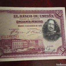 Billetes españoles: ANTIGUO BILLETE DE 50 PESETAS BANCO DE ESPAÑA 1928. Lote 198718390