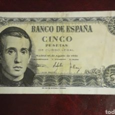 Billetes españoles: BILLETE ANTIGUO DE 5 PESETAS 1951. Lote 198720133
