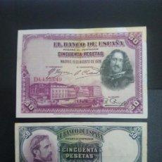 Billetes españoles: LOTE DE 2 BILLETES DE 50 PTAS .... .. ..ES EL DE LAS FOTOS. Lote 198912127